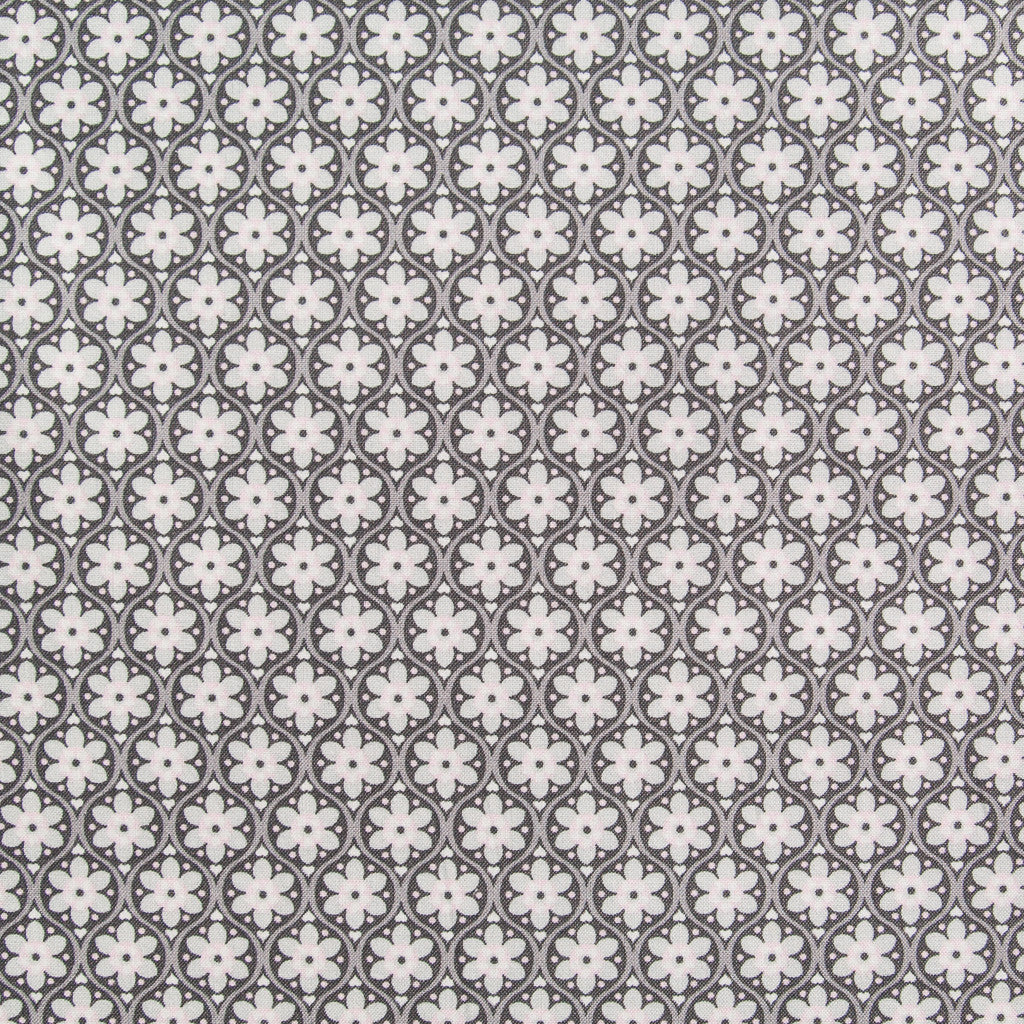 Flora Daisy Chain Brown - Cotton Dressmaking Fabric - by Swafing