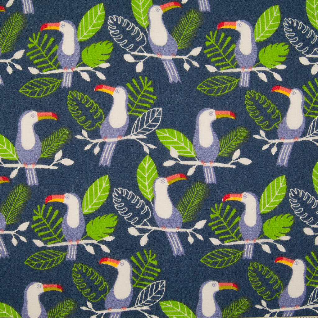 Terry the Toucan - Navy - Polycotton