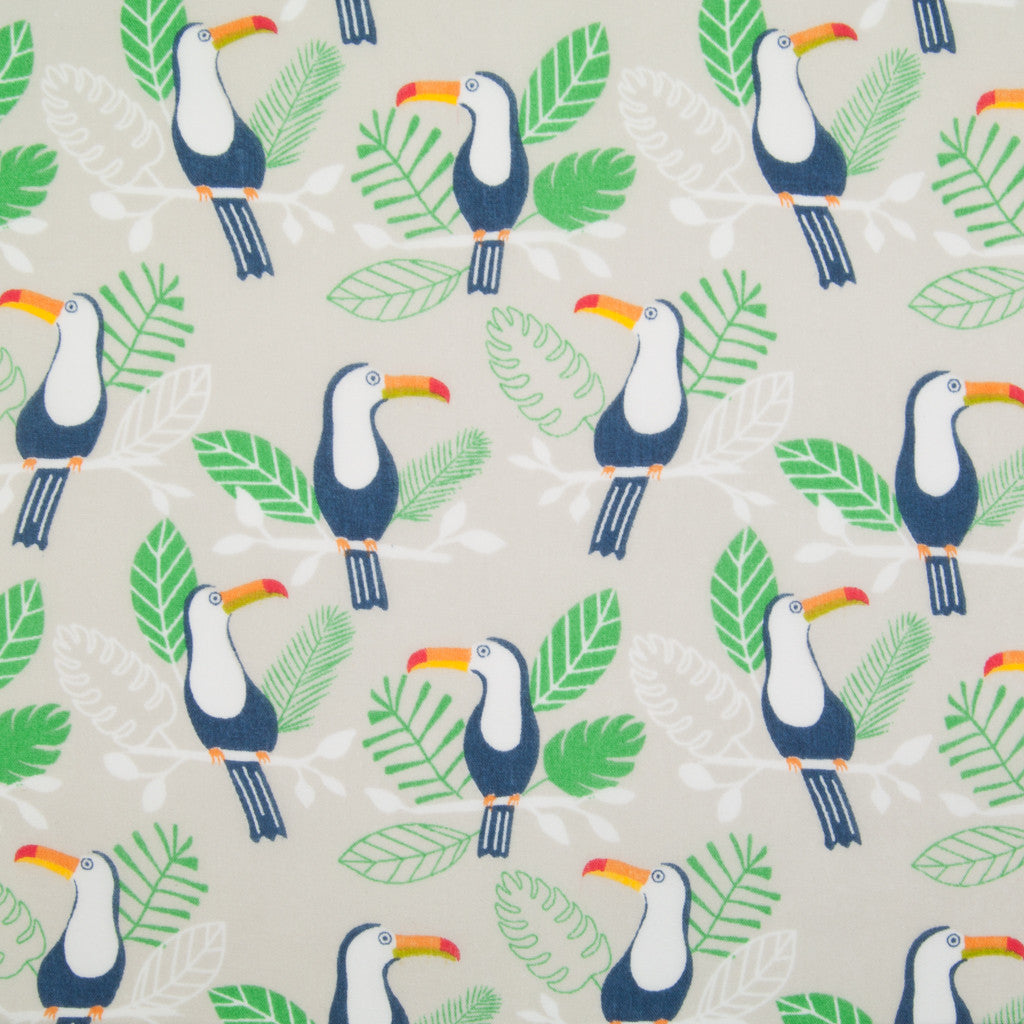 Terry the Toucan - Silver - Polycotton