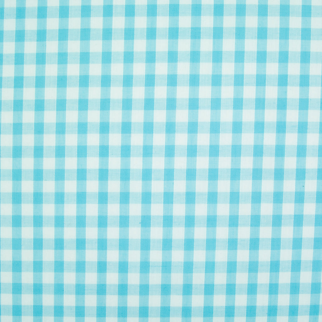 "1/4"" Corded Gingham Check - Turquoise"