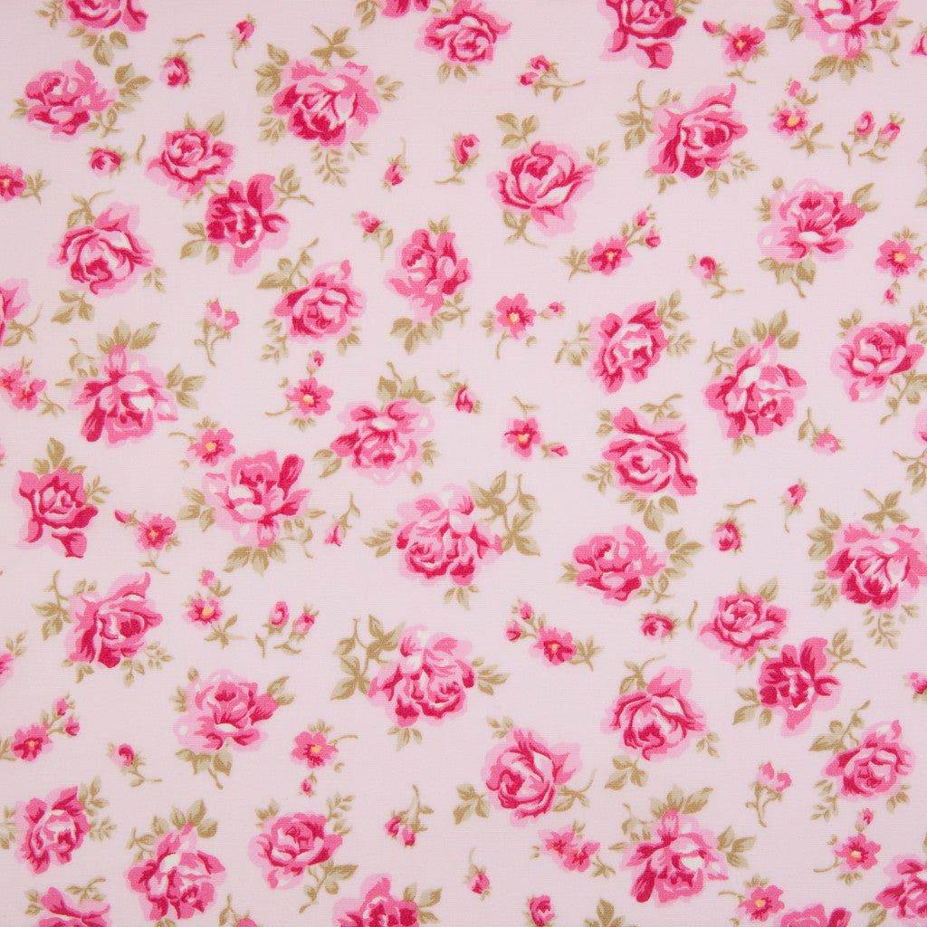 Rose & Hubble - Vintage Dusky Rose - 100% Cotton Poplin - Pink