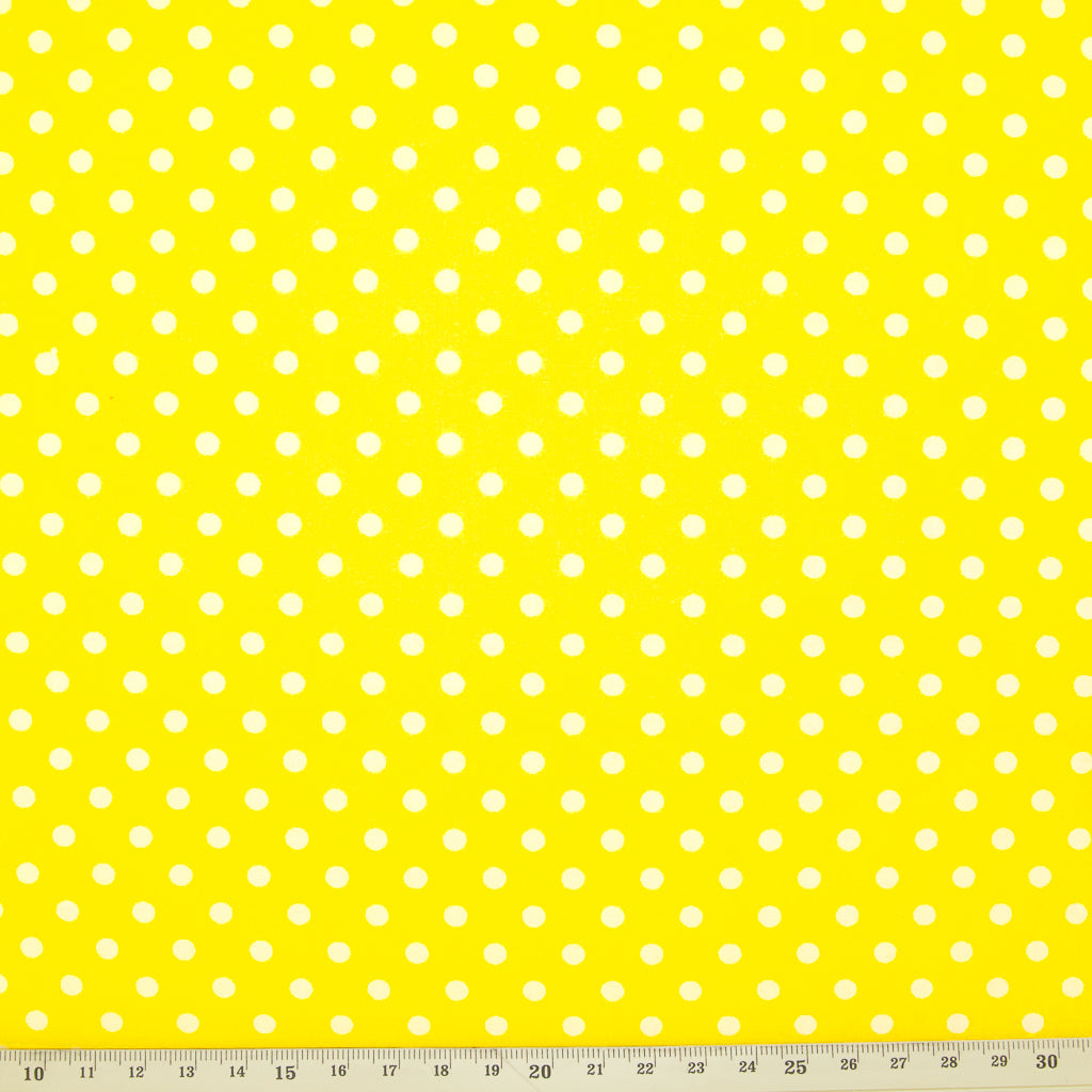 Pea Spot - 4mm White Spots on Yellow