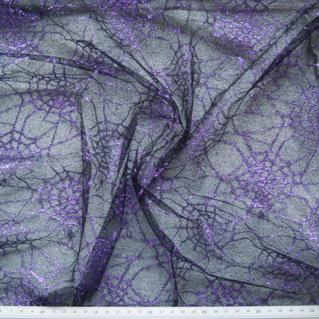 Spider Web Glitter Net - Purple