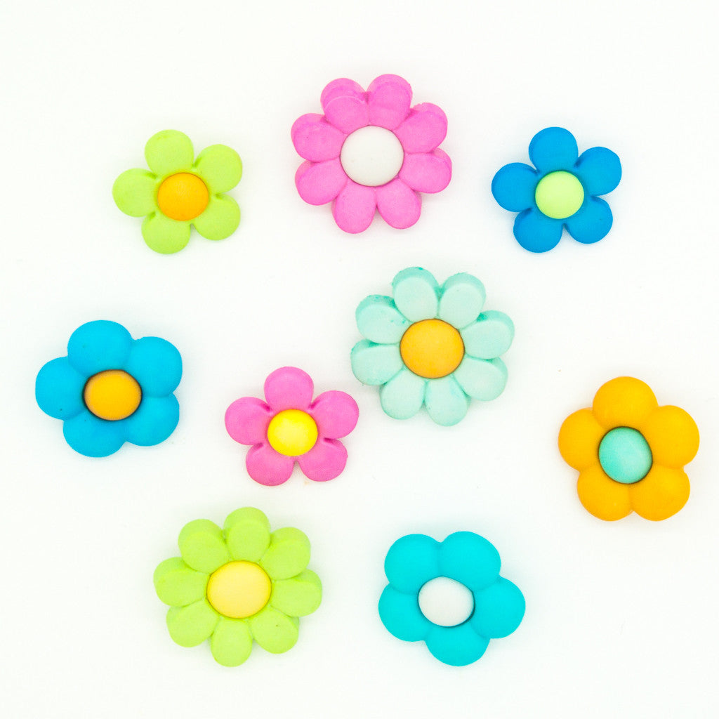Petal Power - Flower Buttons - Pack of 9