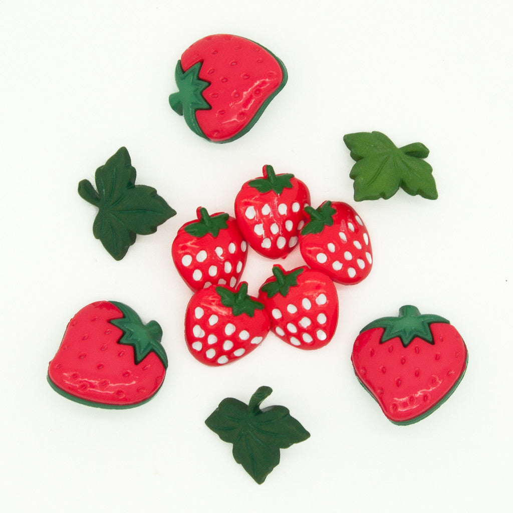 Strawberry Fields - Buttons - Pack of 9
