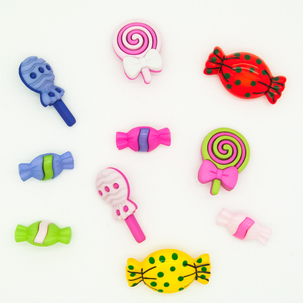 Sweet Treats - Sweets & Lollies - Buttons - Pack of 9