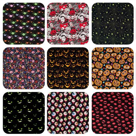 Selection of halloween fabrics from our collection