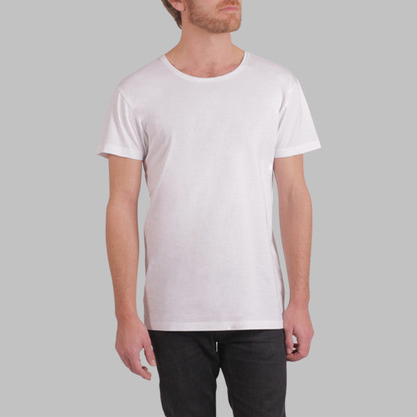 Enkel Basics The Fitted Tee - organic cotton T-shirt - S / white - 1