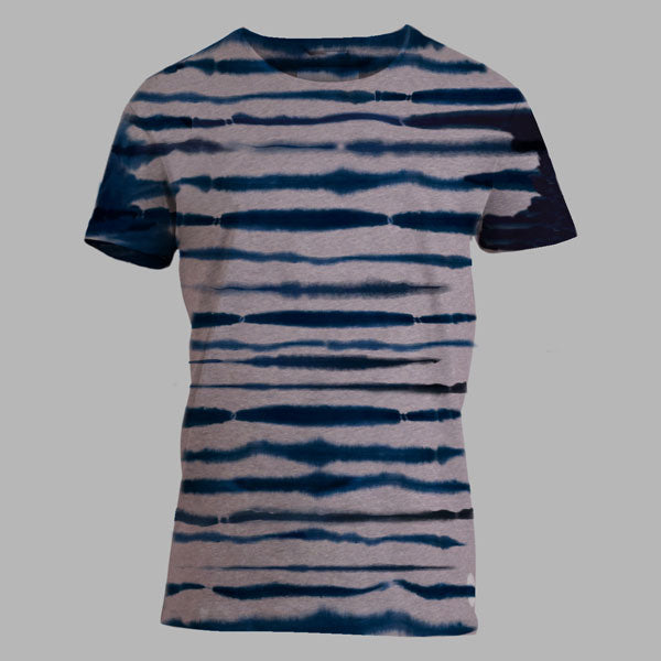 Enkel Basics The Striped Tee - organic cotton T-shirt - S / grey-melange - 1