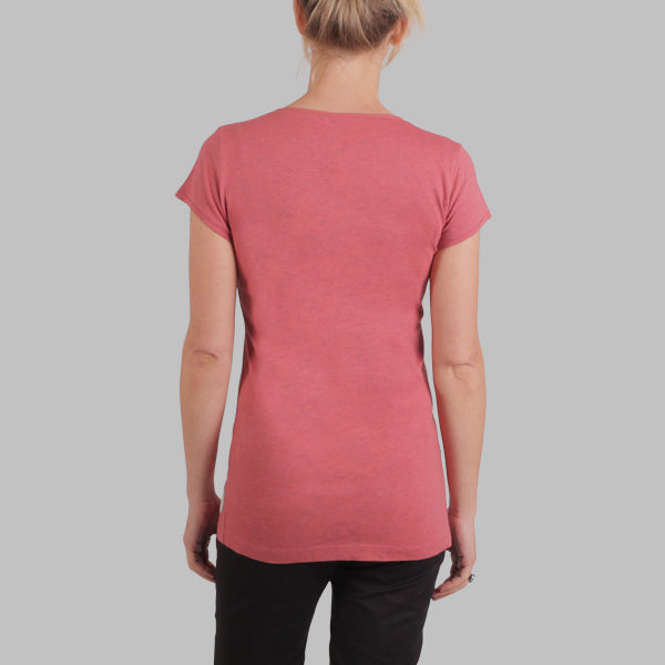 Enkel Basics The Slim Cap-Sleeve Tee - organic cotton T-shirt - L / coral - 11