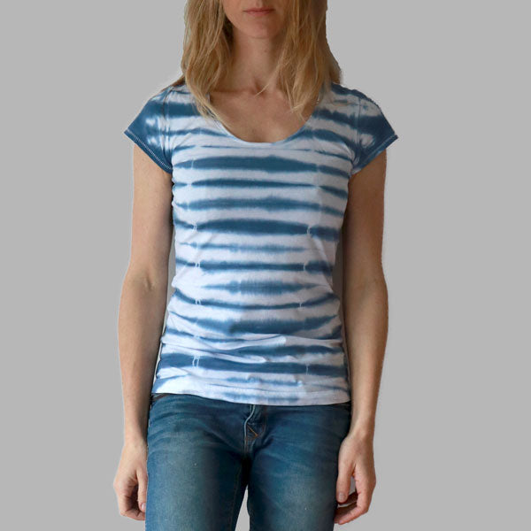 Enkel Basics The Striped Tee - organic cotton T-shirt - S / white - 1