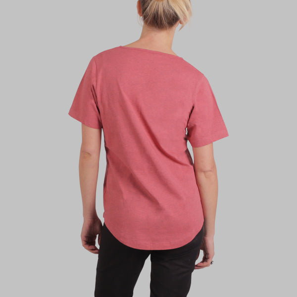 Enkel Basics The Relaxed Tee - organic cotton T-shirt - L / coral - 3