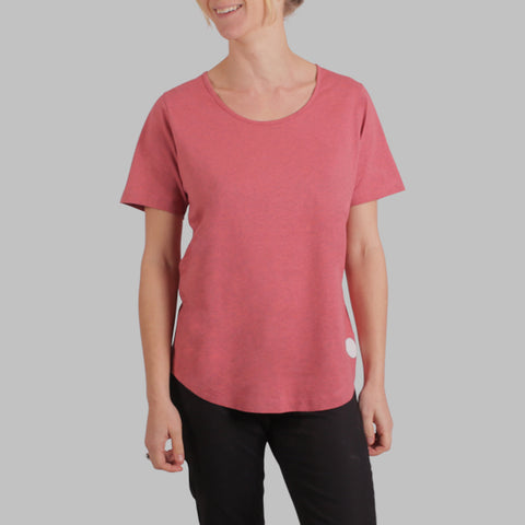 Enkel Basics The Relaxed Tee - organic cotton T-shirt - S / coral - 1