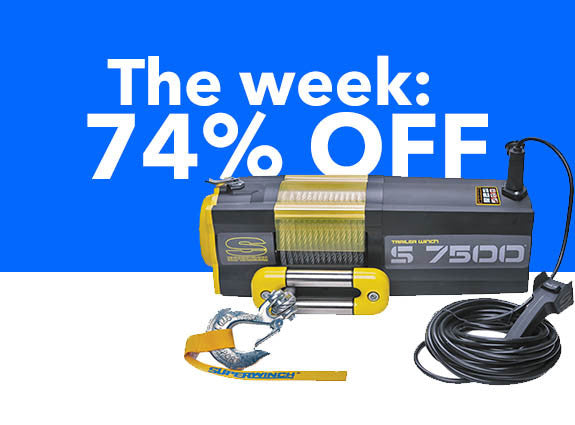 This week: 7,500lbs capacity winch, just $225