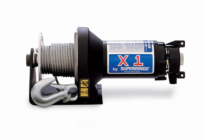 Superwinch 1117 X1 24VDC winch, rated line pull of 2,000 lb/910 kg