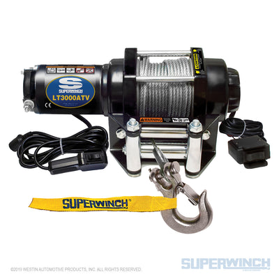 Superwinch LT3000 12v ATV Utility Winch - Steel Rope - 1130220