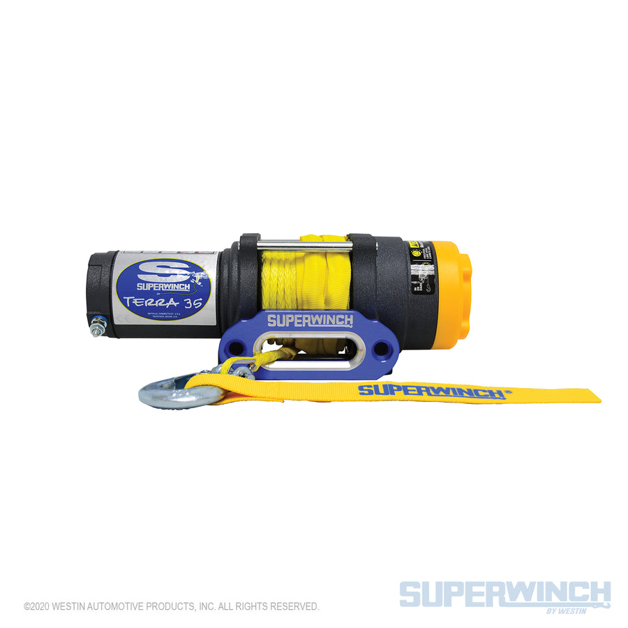 Superwinch Terra 35SR 12v ATV/UTV Winch - Synthetic Rope - 1135230