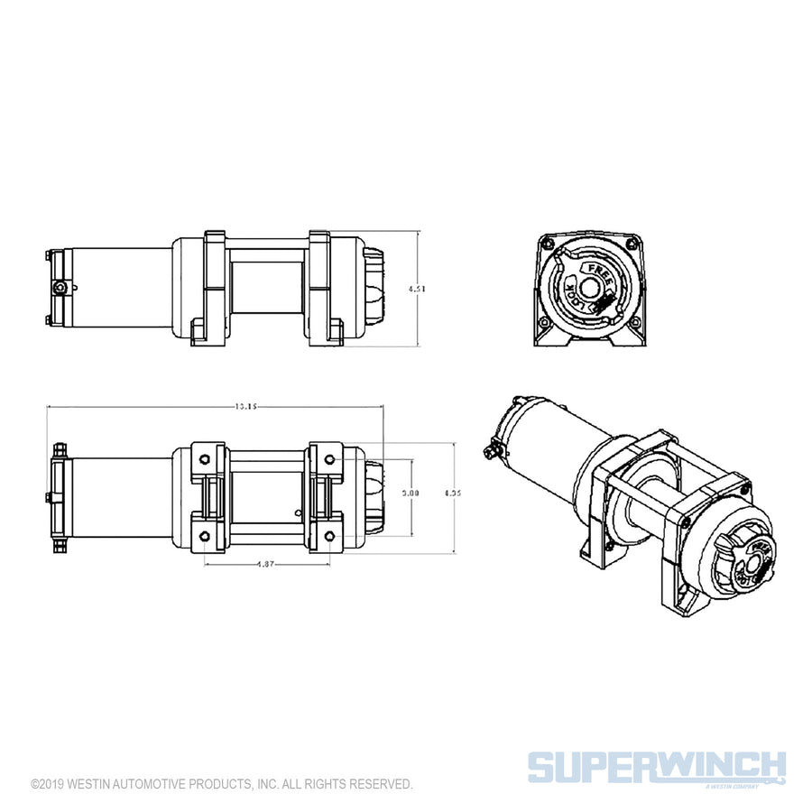 Superwinch LT4000 12v ATV/UTV Utility Winch - Steel Rope - 1140220