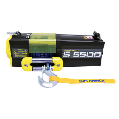 Superwinch S5500SR Trailer Utility Winch - Synthetic Cable - 1455201