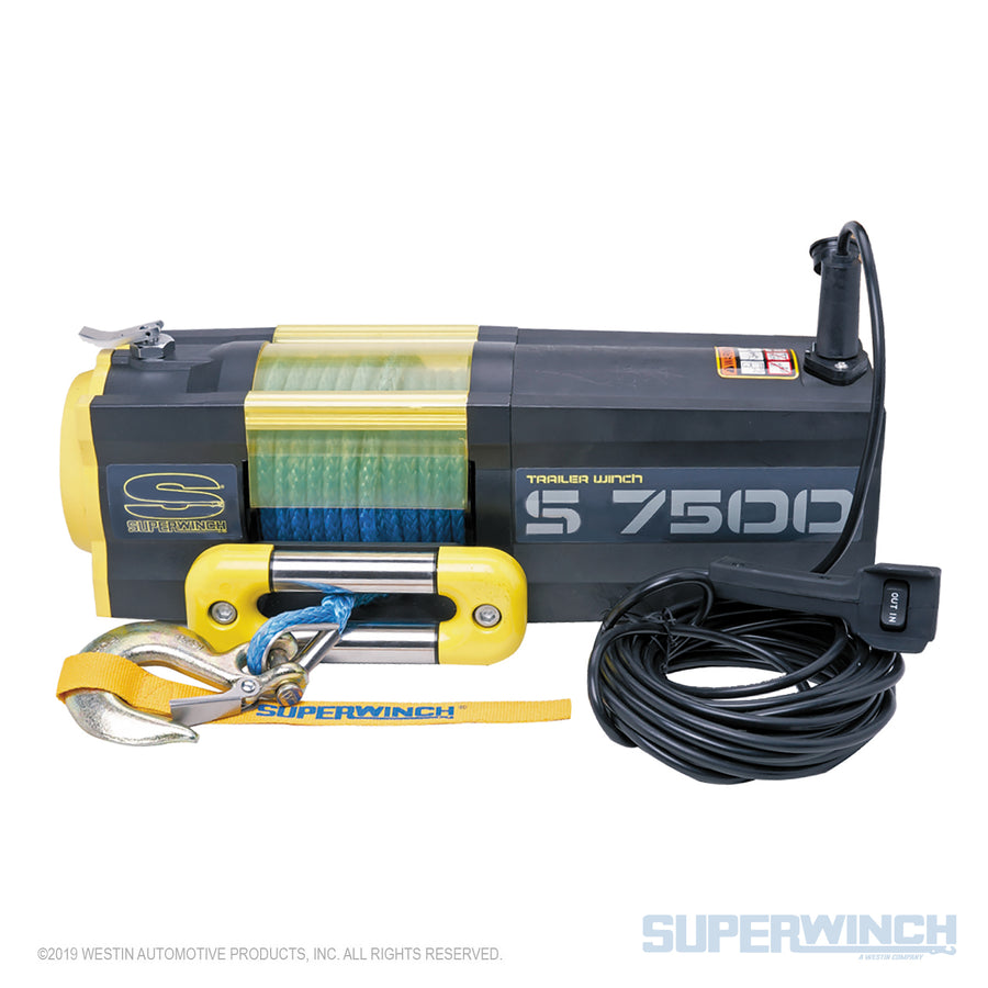 Superwinch S7500SR Trailer Utility Winch - Synthetic Cable - 1475201