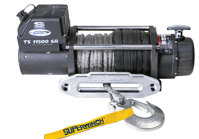 Superwinch Tiger Shark 11500SR 12v Winch - Synthetic Rope - 1511201