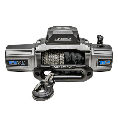 Superwinch 1712201 SX12000SR 12VDC Winch 12000lbs Single Line Pull - Synthetic Rope