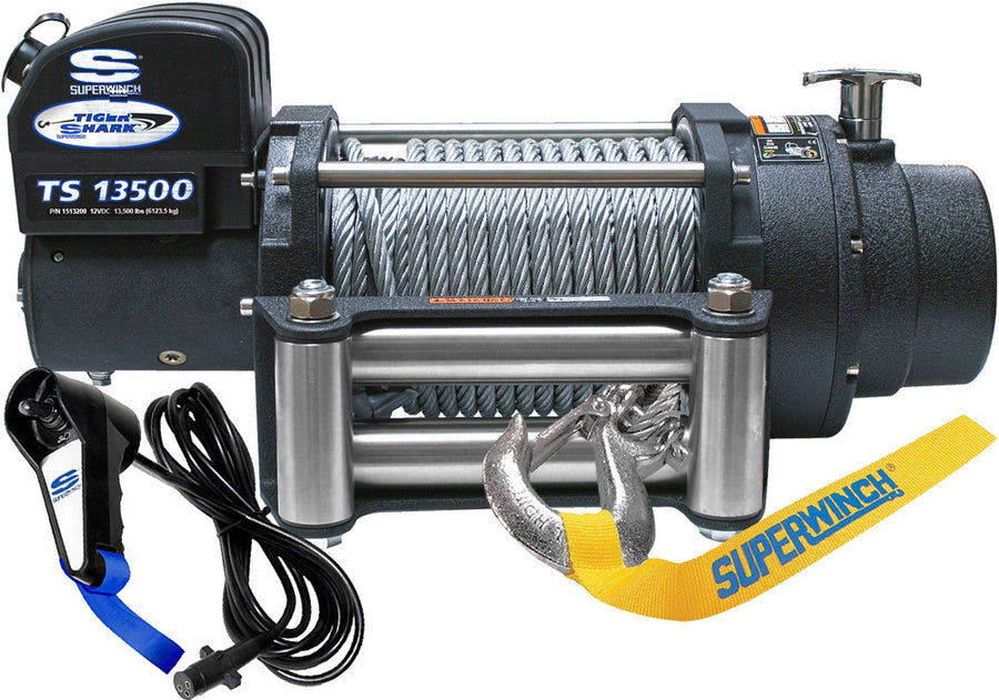 Superwinch Tiger Shark 13500 12v Winch - Steel Rope - 1513200