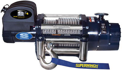 Superwinch Talon 18 is the perfect truck winch shown here with wire cable