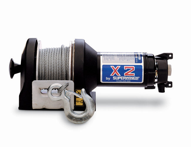 Superwinch 1201 X2 12VDC winch rated line pull of 3000 lb