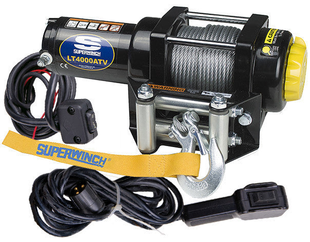 Superwinch LT4000 12v ATV/UTV Utility Winch - Steel Rope ... on