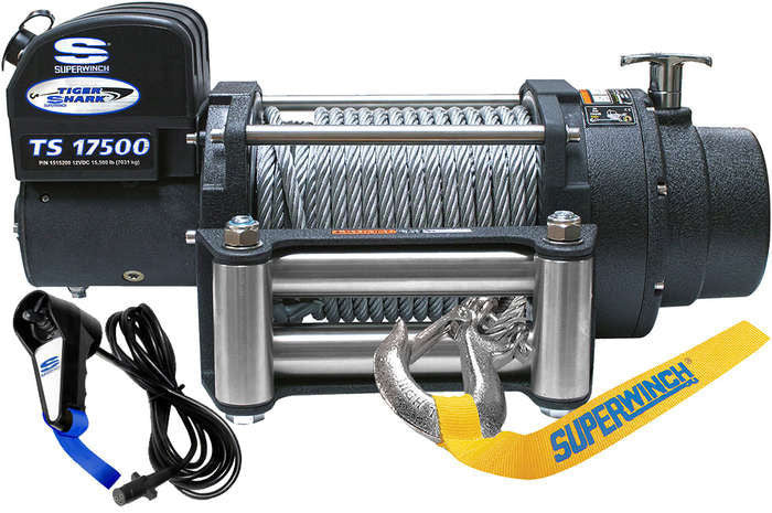 Superwinch Tiger Shark 17500 12v Winch - Steel Rope - 1517200