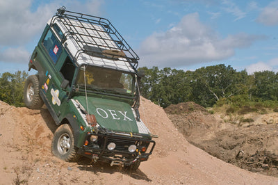 OEX land rover testing Superwinch Talon 9.5i in the field