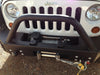 Superwinch Tiger Shark mounted on Jeep in bumper install