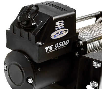 Superwinch Tiger Shark 9500SR 12v Winch - Synthetic Rope - 1595201