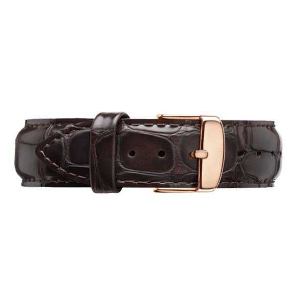 Black Crocodile Leather Strap