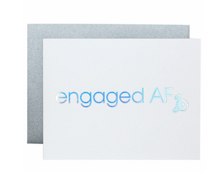 ENGAGED AF LETTERPRESS CARD