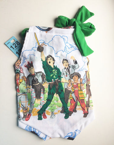 "#128 || Vintage ""Hook"" Peter Pan Romper 