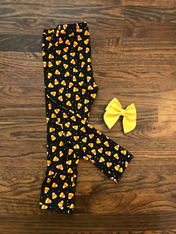 FLASH SALE! || Candy Corn Cotton Knit Leggings