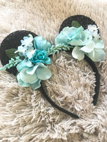 Mint Mouse Ears // One-of-a-kind Floral Crown