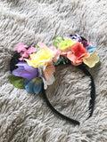 Pastel Mouse Ears // One-of-a-kind Floral Crown