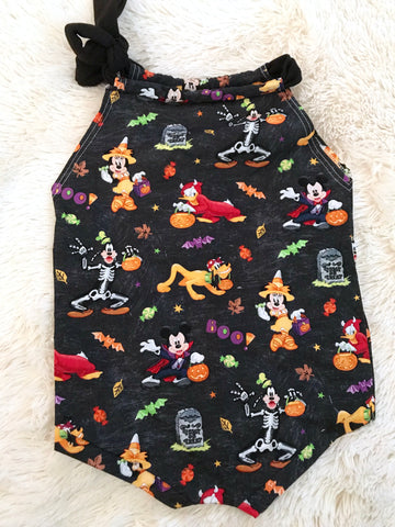 #54 || 2-3t || Halloween Non-Stretch Romper || Mickey's Not So Scary Halloween Party