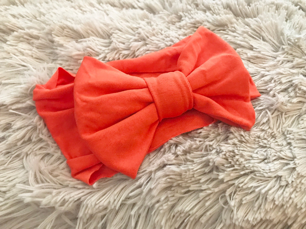 Orange Pre-Tied Headwrap