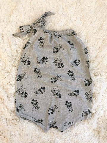 FIRE SALE || Grey Mickey Knit Romper SHORT