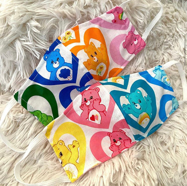 Rainbow Hearts Care Bears Face Mask