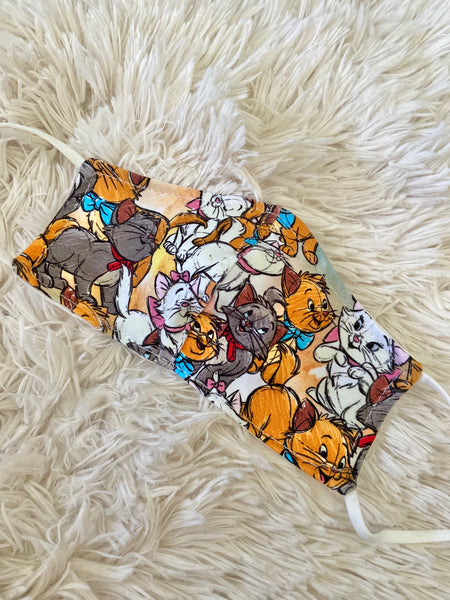 Sketch Aristocats Face Mask