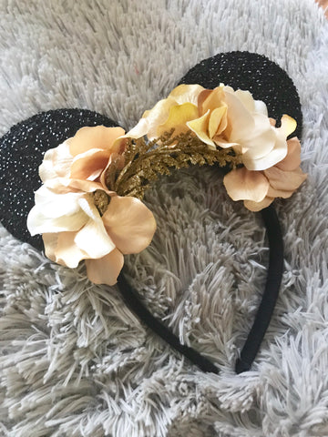 Gold Mouse Ears // One-of-a-kind Floral Crown