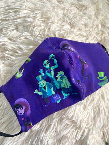 Purple Haunted Mansion Face Mask (Characters will vary)