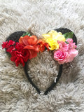 Sunset Mouse Ears // One-of-a-kind Floral Crown