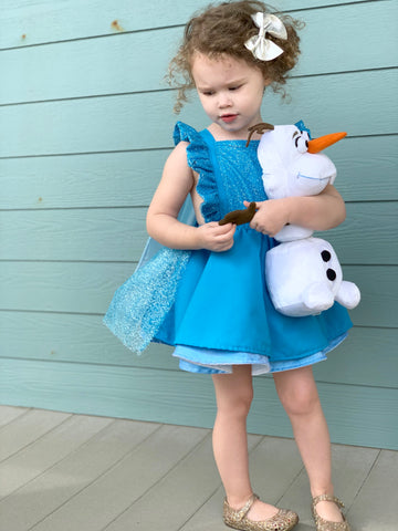 Elsa Inspired Pinafore