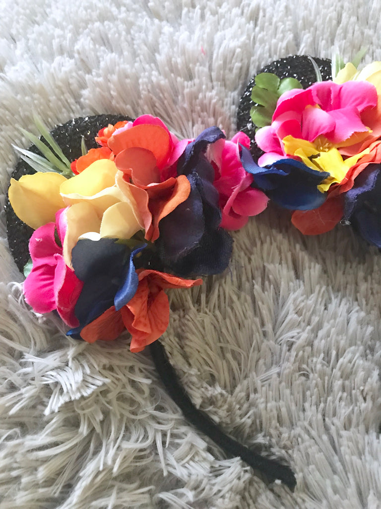 Colorful Tropical Mouse Ears // One-of-a-kind Floral Crown